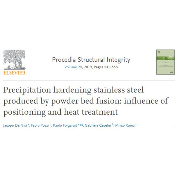 Precipitation hardening stainless steel produced by powder bed fusion: influence of positioning and heat treatment